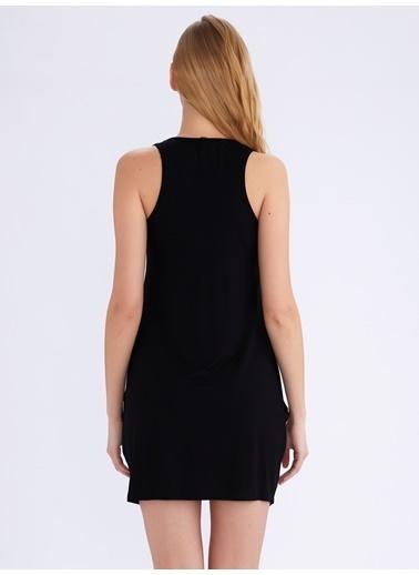 Ayyıldız Ev Elbisesi Siyah